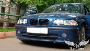 BMW 3 e46 - Перетяжка потолка в итальянскую алькантару