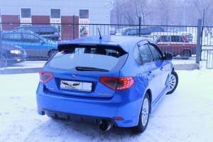 Subaru Impreza - перетяжка потолка итальянской алькантарой