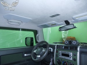 Toyota FJ Cruiser - перетяжка потолка