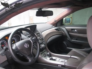 Acura ZDX - Перетяжка панорамного потолка с заменой шторок
