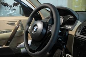 BMW X3 - Пошив кожаного салона, перетяжка руля натуральной кожей