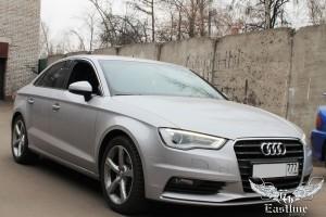Audi A3 – перетяжка потолка в итальянскую алькантару цвета антрацит