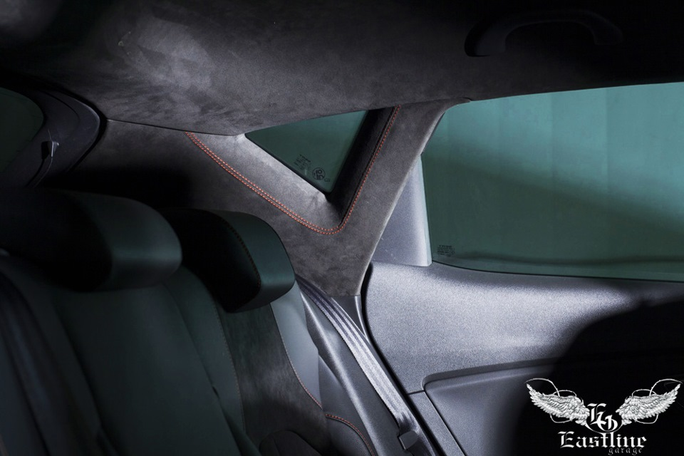 Перетяжка потолка автомобиля алькантарой своими руками видео