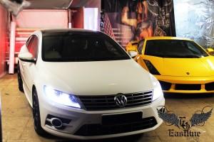 Volkswagen Passat CC R-line - шумоизоляция, перетяжка потолка
