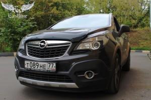 Opel Mokka – перетяжка потолка, стоек и козырьков. Покраска потолочного пластика.