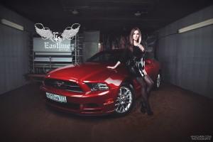 Ford Mustang – пошив эксклюзивных ковров из немецкой экокожи.