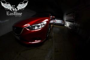 Mazda 6  - комплексная перетяжка салона автомобиля. Полная шумо и виброизоляция кузова. Пошив индивидуального комплекта ковров из немецкой экокожи.
