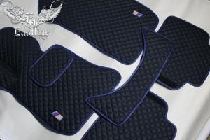 BMW M3 (F80) – пошив эксклюзивного комплекта ковров из немецкой экокожи