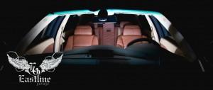 BMW5 E60 – комплексная перетяжка потолка в итальянскую алькантару бежевого цвета