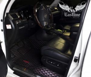Lexus LX 570 - ковры из экокожи (кожаный пол)
