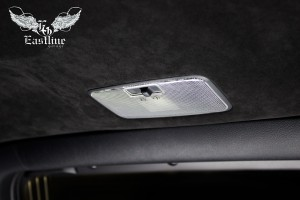 Toyota Land Cruiser Prado 2016 - Потолок алькантара, шумоизоляция крыши, диодная подсветка