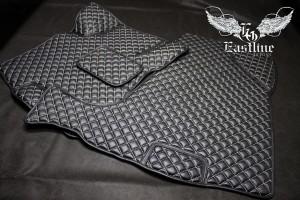 Hyundai  Tucson - пошив ковров из экокожи в салон