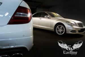 Mercedes-Benz W221 S500  - актоковрики из экокожи премиум класса