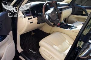 Lexus LX450d – пошив люксового комплекта ковров из немецкой экокожи