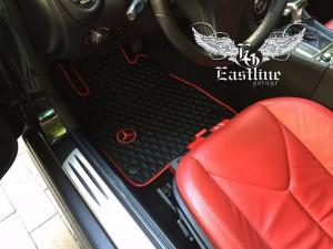 Mercedes-Benz CL500 и Mercedes-Benz SLK350 – пошив комплектов ковров из немецкой экокожи