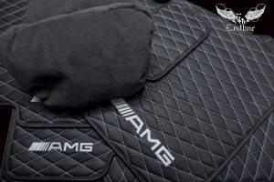 Роскошный комплект ковров из экокожи для G-class и подушечки из итальянской алькантары.