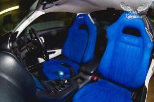 Mitsubishi FTO перетяжка сидений в алькантару и их реставрация