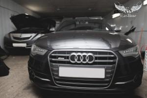 Audi A6 С7 перетяжка салона авто в кожу и алькантару