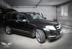 Mercedes-Benz GLK X204 коврики в багажник и пошив люксового комплекта ковров из экокожи