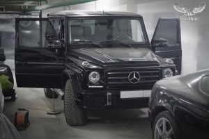 Mercedes Benz G-class - химчистка салона и покраска кожи.