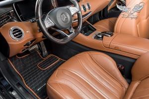 Mercedes-Benz S-Class coupe (C217) пошив комплекта ковров из фактурной немецкой экокожи